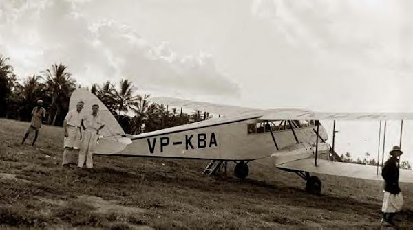 British Biplane, Zanzibar, 1936