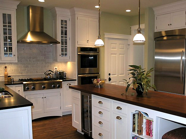 Dark Wood Cabinets Kitchen