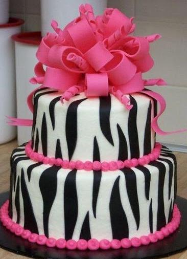 Zebra Design Birthday Cake : Party Frosting: Pink and Zebra!