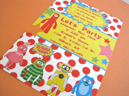party frosting: yo gabba gabba party inspiration!, Wedding invitations
