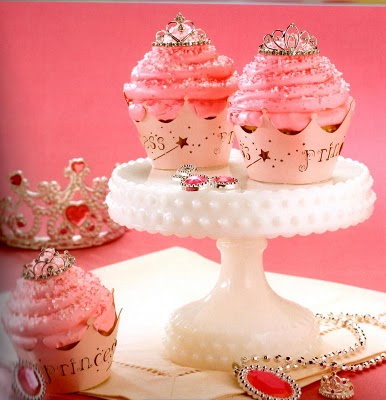 and top off the dessert buffet with these flashy princess cupcakes