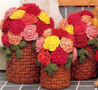 gooznuruu 1205554225 Örgüden çiçek yapımı