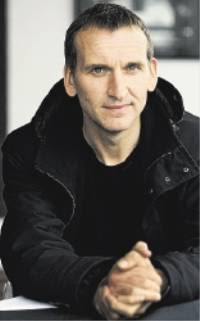 Christopher Eccleston at the Stephen Joseph Theatre yesterday