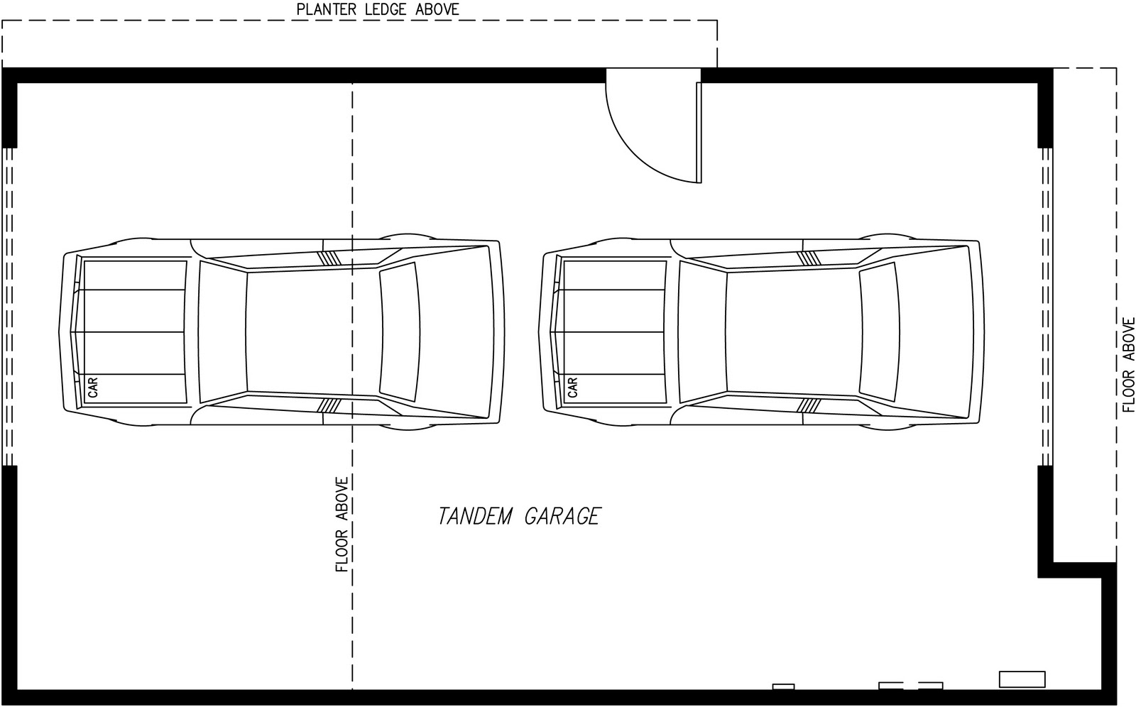 2 car tandem garage plans bing images for 2 car tandem garage