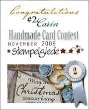 Stolt 2:a i Stempelgledes Handmade Card Contest 2009