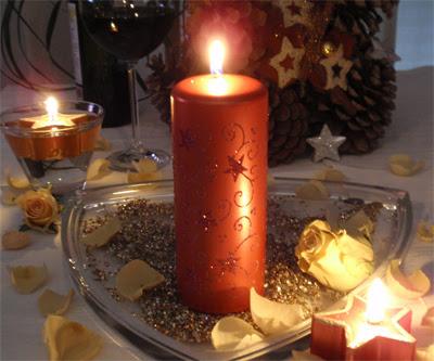 Las fiestas llegaron ya decoracion con velas en navidad - Velas decoradas para navidad ...