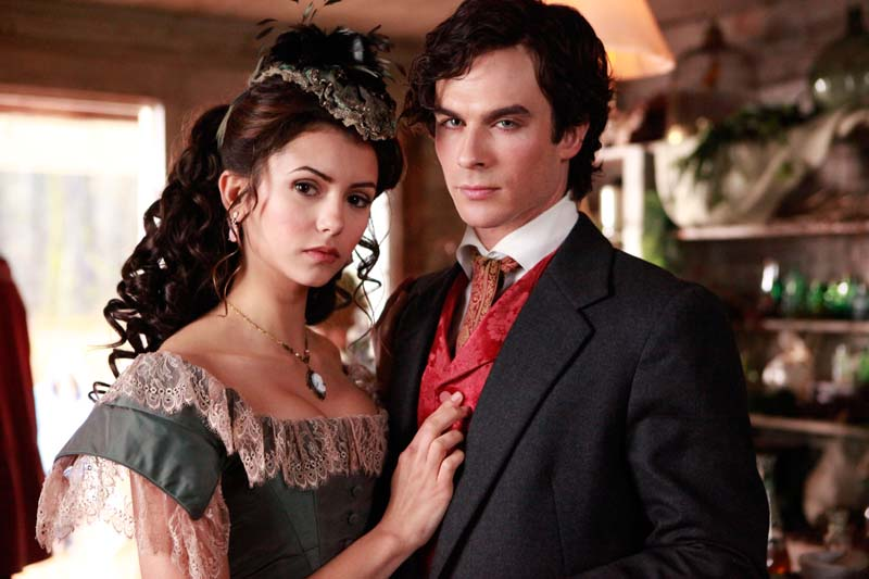 vampire diaries damon and stefan. This is Stefan and Elena
