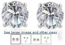 14k Gold, Round, Diamond Stud Earrings (1/4 cttw, I-J Color, I1-I2 Clarity)