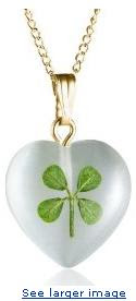 14k Gold Filled Four Leaf Clover Pendant, 18