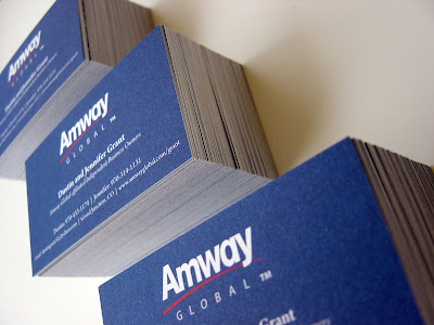 Absolute Edge Design Amway Global Business Cards