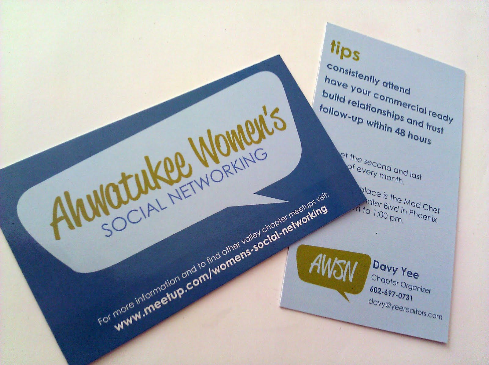 absolute edge design ahwatukee women s social networking business cards looove these i worked the wonderful davy yee the chapter organizer to come up a card to