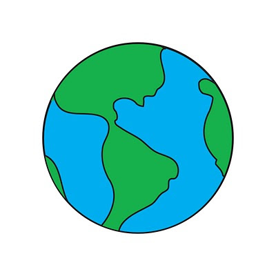 easy to draw earth
