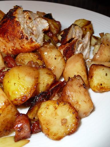 dulcis in fundo: Roasted chicken with pancetta, artichokes ...