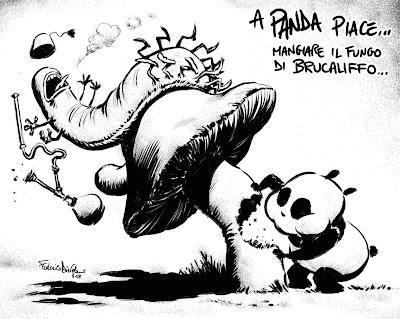 panda fungo e brucaliffo