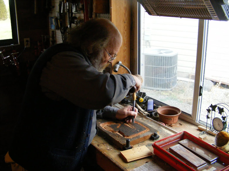 Norse celtic medieval woodcarving studio