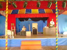 Nos apresentamos em um Circo que fica dentro da Biblioteca; simplesmente Mágico