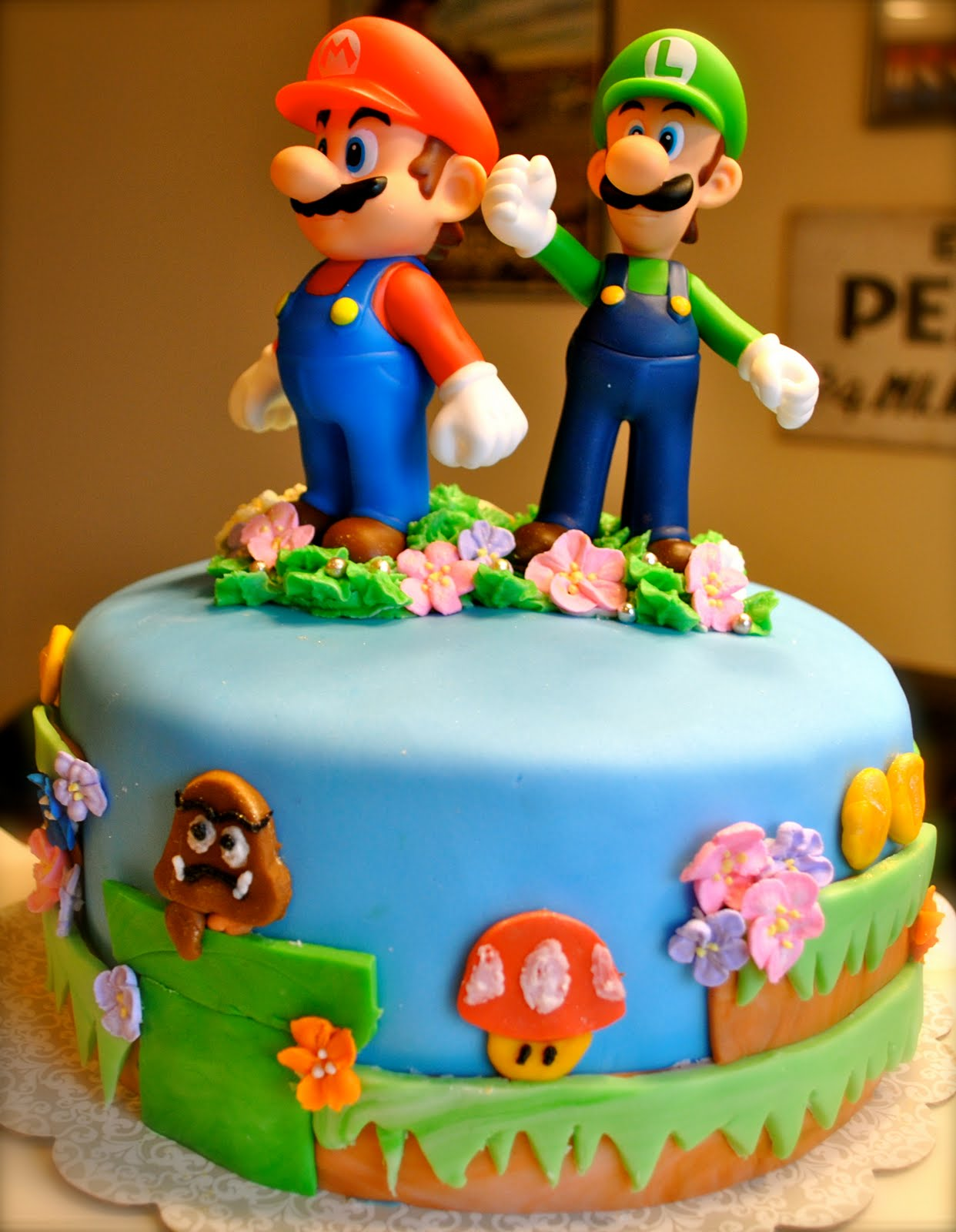 Sweet Gabby Super Mario Bros Cake