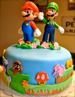 Mario Brothers Image In Black And White For Cake
