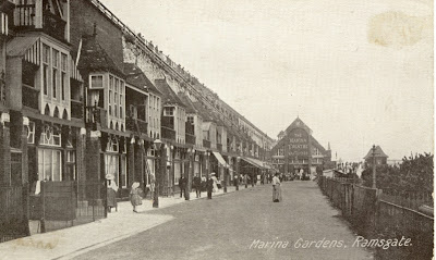Marina Gardens C 1905 Note The Old Theatre In Background At End Of Esplanade