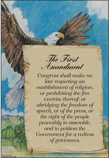 an introduction to the history of first amendment in the us Establishing the history of the establishment clause that the establishment clause of the first amendment this amendment--alluded to in the introduction.