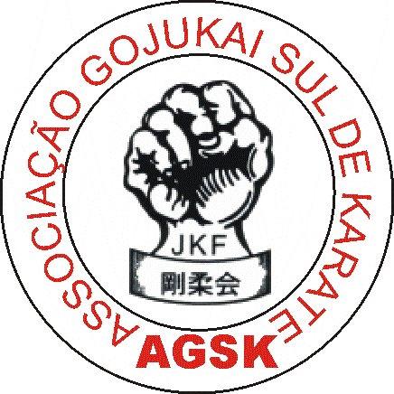 """Brasão da associação gojukai sul de karate """"AGSK"""""""