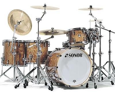 Sonor Drum Set - Sonor Delite Series in Walnut Roots