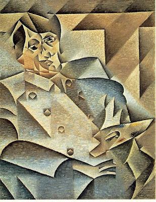 picasso cubism portrait. Portrait of Picasso, 1912.