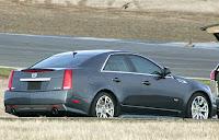 CV S 101 2009 Cadillac CTS V Captured Unmasked Photos