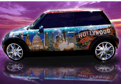 Carscoop MINI crystalcar14 I'll Be Pimped… A MINI Cooper Adorned With a Million Swarovski Crystals!