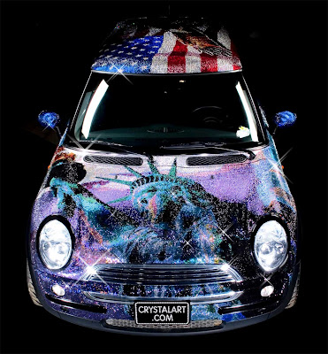 Carscoop MINI crystalcar15 I'll Be Pimped… A MINI Cooper Adorned With a Million Swarovski Crystals!