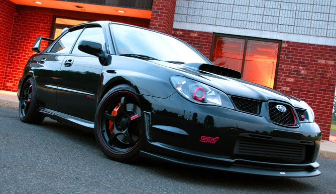 Carscoop: Black Beauty: 2006 Subaru Impreza WRX STi