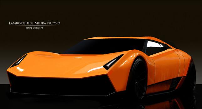 Lamborghini Miura Nuovo Design Study Something Old Porsche Panamera