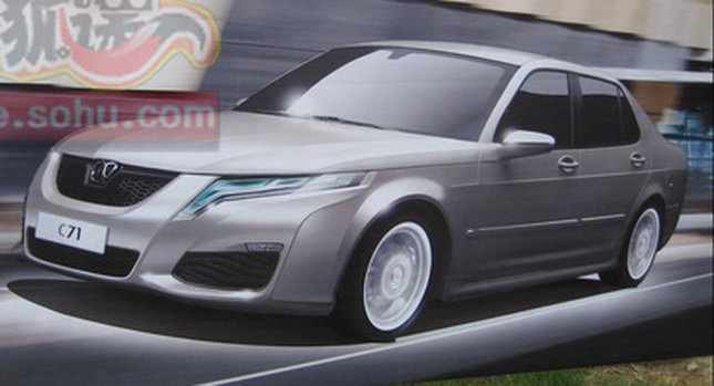 BAW C70 SAAB 9 5 0 BAWs Chinese Saab 9 5 Clone Teased in Beijing Auto Show Poster