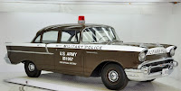 1957 Chevrolet Police Car 2 Copped out: 1957 Chevy Military Police Car for Sale