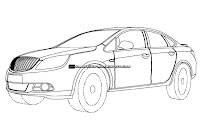 2012 Buick Excelle 1 U.S. Patent Drawings of 2012 Buick Excelle Sedan