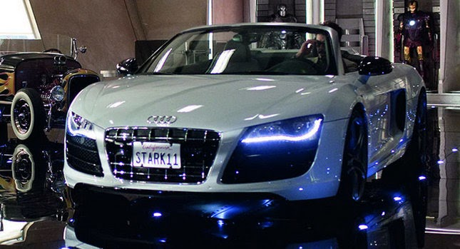 Audi Releases Video and Photos of R8 Spyder from Iron Man 2