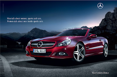 2009 mercedes benz sl advert for the insecure for Mercedes benz new advert