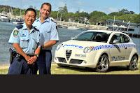 Alfa Romeo MiTo Police 2 Aussie Cops get Alfa Romeo MiTo Police Car Photos