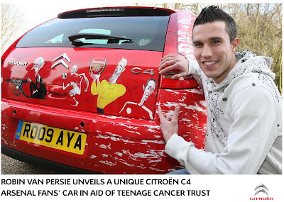 Citroen C4 Arsenal 1 Citroen creates One Off C4 dedicated to Arsenal Soccer Team Photos