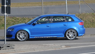 Audi RS3 4 Audi RS3 Prototype with 340HP 2.5 Turbo Caught Testing in Nurburgring