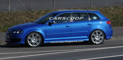 Audi RS3 5 Audi RS3 Prototype with 340HP 2.5 Turbo Caught Testing in Nurburgring