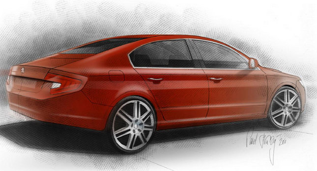 Skoda Superb Fastback 01 New Skoda Superb Fastback Design Concept Photos Videos