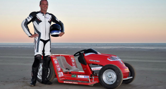 Don+Wales Pendine+Sands 0 Worlds Fastest Lawnmower Sets New High Speed Record Photos Videos