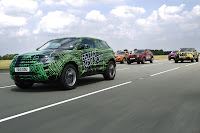 2012 Range Rover Evoque Prototypes 3 Land Rover raps Evoque Prototypes in Funky Camouflage and Hits the StreetsWraps Evoque Prototypes in Funky Camouflage and Hits the Streets