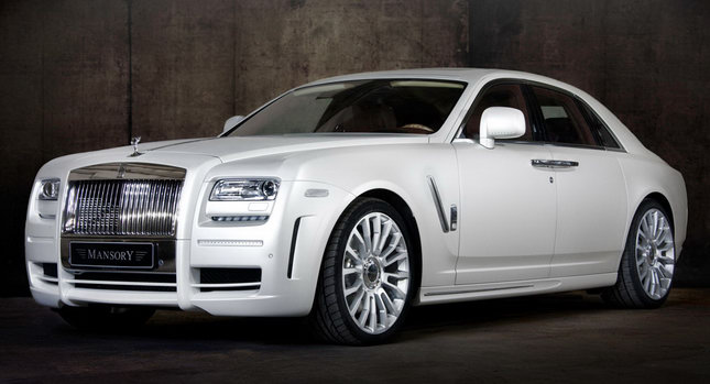 Mansory RR Ghost White 01 New Mansory Rolls Royce Ghost Skips on the Gold Flakes