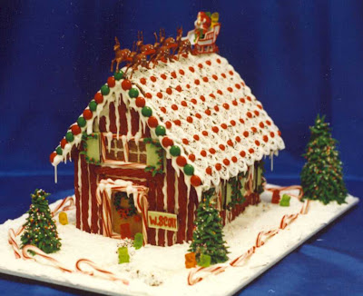 Christmas house cake wallpaper