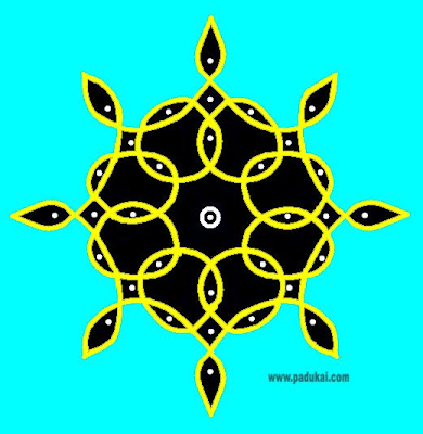 Simple Sikku kolam and Simple Margazhi Kolam designs