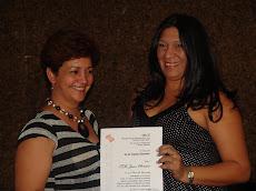Yane Moreno recibió por 5 años de Servicios