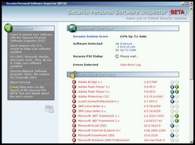 Secunia Personal Software Inspector picture