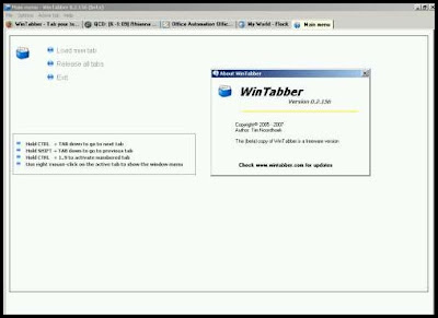 wintabber windows tab manager screenshot